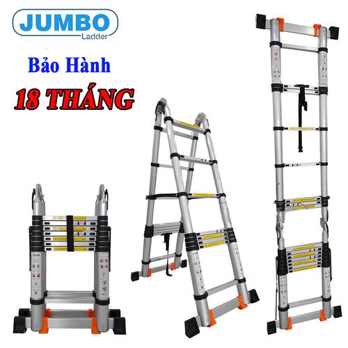 Thang nhôm rút đôi chữ A Jumbo A250 - 5,0m - 6423623 , 16509213 , 15_16509213 , 2670000 , Thang-nhom-rut-doi-chu-A-Jumbo-A250-50m-15_16509213 , sendo.vn , Thang nhôm rút đôi chữ A Jumbo A250 - 5,0m