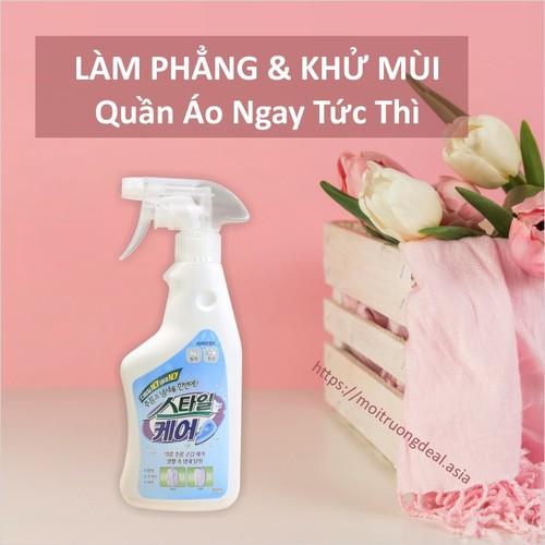 Chai Xịt Xóa Vết Nhăn và Khử Mùi Áo Quần Style Care - Xịt hữu cơ Organic - Made in Korea