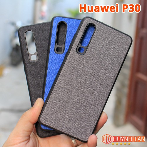 Ốp lưng Huawei P30 vân vải Jean chống bán vân tay