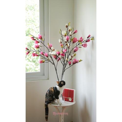 Hoa lụa mộc lan, dài cành 1,15m