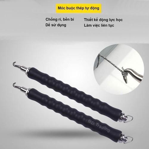 Móc xoay dây thép, Dụng cụ móc xoay buộc dây thép chuyên dụng, Dụng cụ chuyên dụng thi công xây dựng công trình, MÓC BUỘC THÉP Thông Minh Trong Xây Dựng