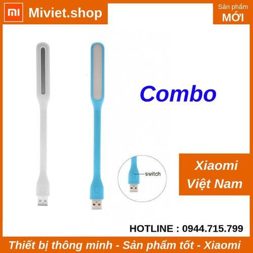 COMBO Đèn LED USB Xiaomi version 2 có nút bấm - Xanh - Chính Hãng - Miviet.shop