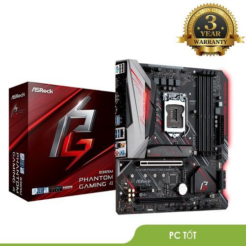 Mainboard Asrock B365M Phantom Gaming 4 - Bảo Hành 36 Tháng Chính Hãng