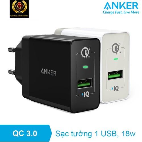 Sạc ANKER-PowerPort+, 18W, công nghệ sạc nhanh Quick Charge 3.0 & Power IQ