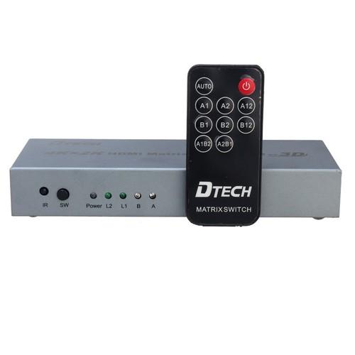 Bộ Gộp HDMI MATRIX 2-2 DTECH DT-7422
