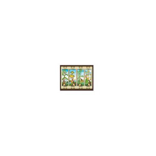 H959-Tranh đính đá tứ quý-115*70-390