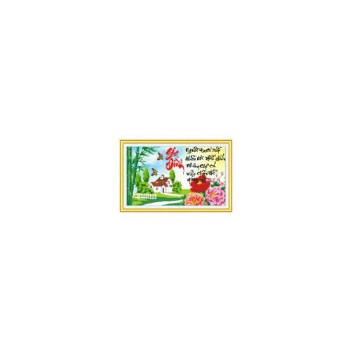 Tranh thêu chữ thập Gia đình DLH-222934-Siêu thị tranh thêu