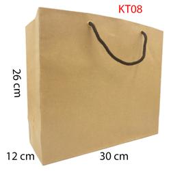 5 Túi Giấy Kraft trơn KT08 Kích thước 26 x 30 x12cm
