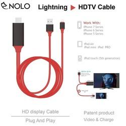 Cáp Chuyển MHL Lightning Iphone Ra HDMI Tivi, Máy Chiếu HDTV Chuẩn Phân Giải 1080p