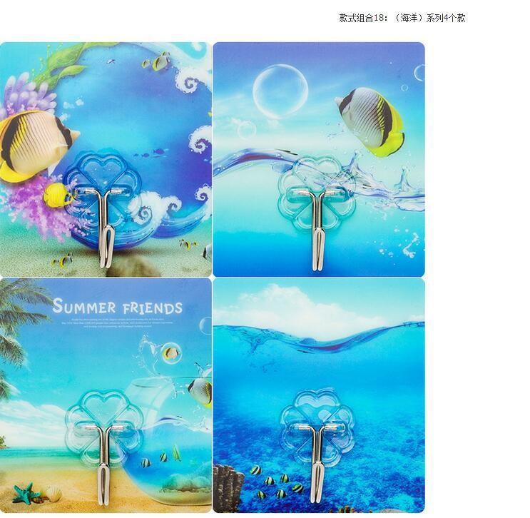 Combo 10 móc treo siêu dính tường họa tiết hình ảnh siêu cute 7