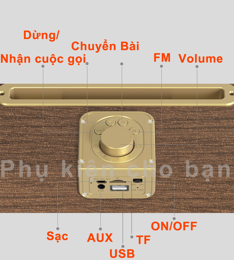 Loa Buetooth Oneder V06 siêu Bass âm thanh chuẩn Hifi Đen PF147 14