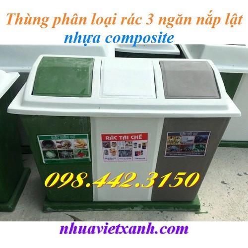 Thùng phân loại rác 3 ngăn nắp lật nhựa composite - 4548921 , 16517320 , 15_16517320 , 1999000 , Thung-phan-loai-rac-3-ngan-nap-lat-nhua-composite-15_16517320 , sendo.vn , Thùng phân loại rác 3 ngăn nắp lật nhựa composite