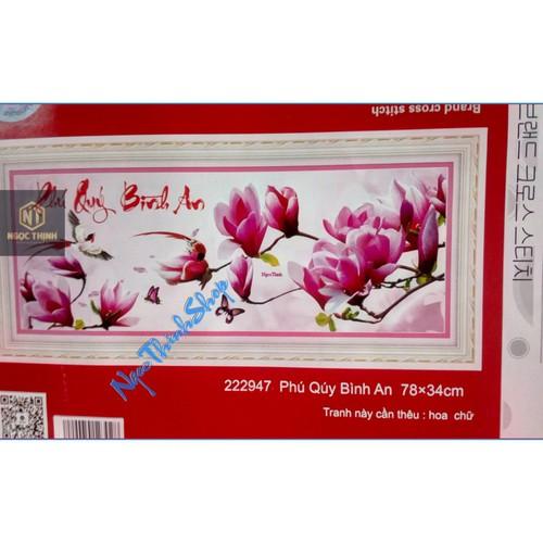 Tranh thêu chữ thập Phú quý bình an DLH-222947-Siêu thị tranh thêu
