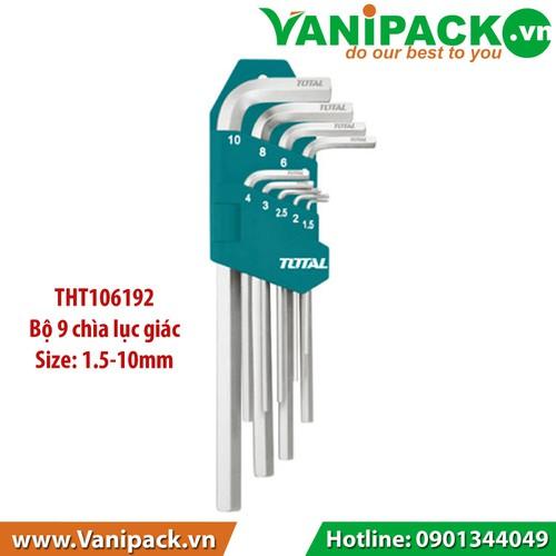 Bộ khóa  lục giác 1.5- 10mm Total THT106192 - 6420402 , 16507654 , 15_16507654 , 118690 , Bo-khoa-luc-giac-1.5-10mm-Total-THT106192-15_16507654 , sendo.vn , Bộ khóa  lục giác 1.5- 10mm Total THT106192