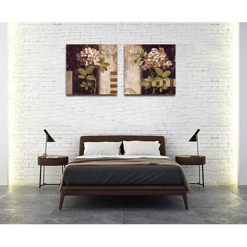 Tranh Hoa cỏ KÈM KHUNG-Kích thước 43x43cm