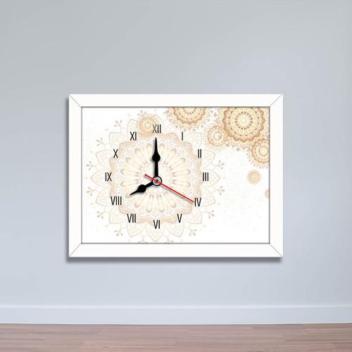 Tranh đồng hồ họa tiết hoa cổ điển | Đồng hồ để bàn WC091