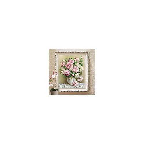 M8458-Tranh thêu hoa bình hoa monalisa-60*78