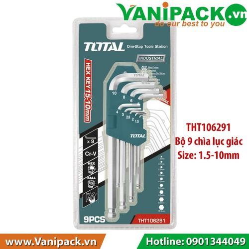 Bộ khóa  lục giác  1.5- 10mm Total THT106291 - 6421075 , 16507969 , 15_16507969 , 114400 , Bo-khoa-luc-giac-1.5-10mm-Total-THT106291-15_16507969 , sendo.vn , Bộ khóa  lục giác  1.5- 10mm Total THT106291