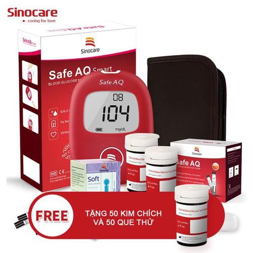 Máy đo đường huyết Sinocare Safe AQ chính hãng Đức + Tặng 50 que thử 50 kim lấy máu - 6470565 , 16551395 , 15_16551395 , 455000 , May-do-duong-huyet-Sinocare-Safe-AQ-chinh-hang-Duc-Tang-50-que-thu-50-kim-lay-mau-15_16551395 , sendo.vn , Máy đo đường huyết Sinocare Safe AQ chính hãng Đức + Tặng 50 que thử 50 kim lấy máu