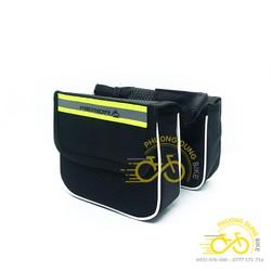 Túi đôi treo khung xe đạp 2 ngăn Shimano, Giant, Merida, Yiquan