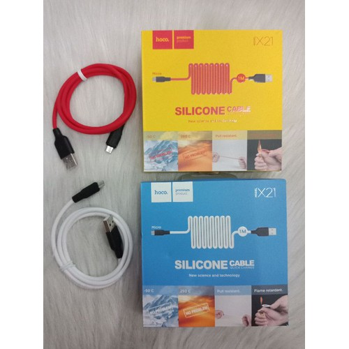 cáp sạc silicon chống cháy hoco X21 chính hãng chân micro dài 1m - 6471806 , 16553492 , 15_16553492 , 75000 , cap-sac-silicon-chong-chay-hoco-X21-chinh-hang-chan-micro-dai-1m-15_16553492 , sendo.vn , cáp sạc silicon chống cháy hoco X21 chính hãng chân micro dài 1m