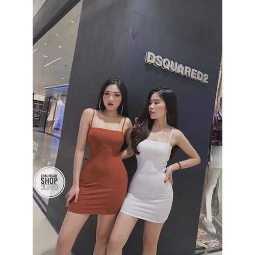 Váy hai dây nữ dáng ôm