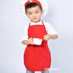 Bộ đồ đầu bếp trẻ em tạp dề kèm nón - Loại cao cấp