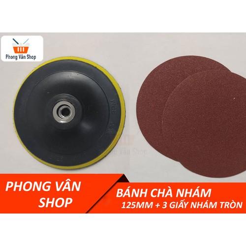 Bánh chà nhám 125mm + 3 giấy nhám tròn - 6453299 , 16532376 , 15_16532376 , 23000 , Banh-cha-nham-125mm-3-giay-nham-tron-15_16532376 , sendo.vn , Bánh chà nhám 125mm + 3 giấy nhám tròn