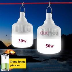 Bóng đèn tích điện 50w, bóng đèn LED sạc tích điện thông minh, đèn sạc - Đức Hiếu Shop