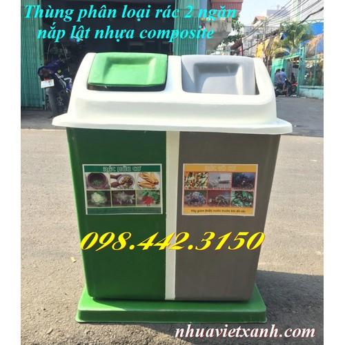Thùng phân loại rác 2 ngăn nắp lật nhựa composite - 4550636 , 16534282 , 15_16534282 , 1499000 , Thung-phan-loai-rac-2-ngan-nap-lat-nhua-composite-15_16534282 , sendo.vn , Thùng phân loại rác 2 ngăn nắp lật nhựa composite