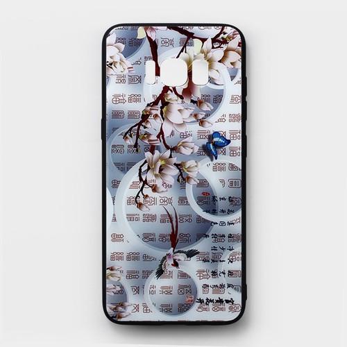Ốp lưng cứng Samsung Galaxy S8 viền dẻo hoa văn 3