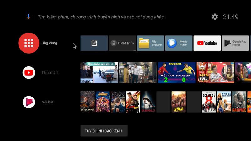 Android TV Box TX5 Max - Ram 4GB, bộ nhớ trong 32GB, CPU S905X2, AndroidTV 8 2