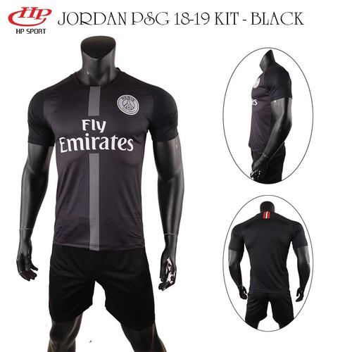 Bộ áo đá banh PSG đen Jodan 2019!