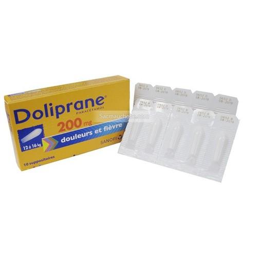 Viên đút hạ sốt Doliprane 200mg hộp 10v cho bé 12-16kg