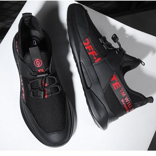 Giày Sneaker Nam Thể Thao SODOHA Y19-BR Đen Phối Đỏ