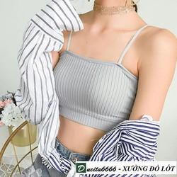 CAM KẾT 100 HÀI LÒNG - Áo lót nữ vân tăm - Áo bra quây body ôm vân tăm Hàn Quốc 809 ALT21