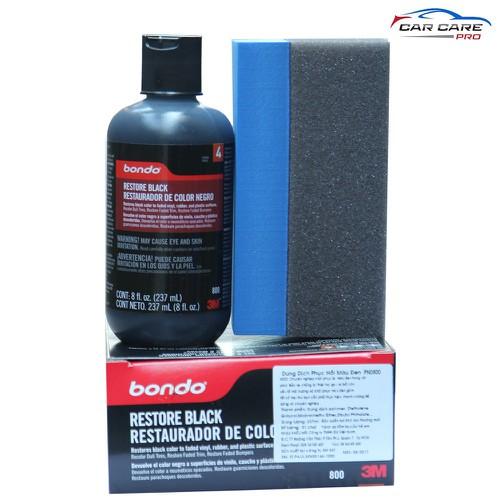 Làm mới nhựa đen sần đã bị bạc màu 3M™ Bondo Restore Black 237ml