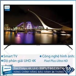 Tivi Philips Smart 4K UHD 55 inch 55PUT6023S74