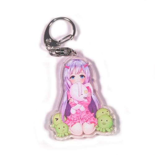 Móc khóa Anime bằng nhựa acrylic dày 3mm hình Tác Giả Đào Hoa Eromanga sensei H2 [AAM] [PGN18]