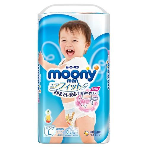 Tã Quần Moony Size L44-XXL26-XL38 BOY - NEW