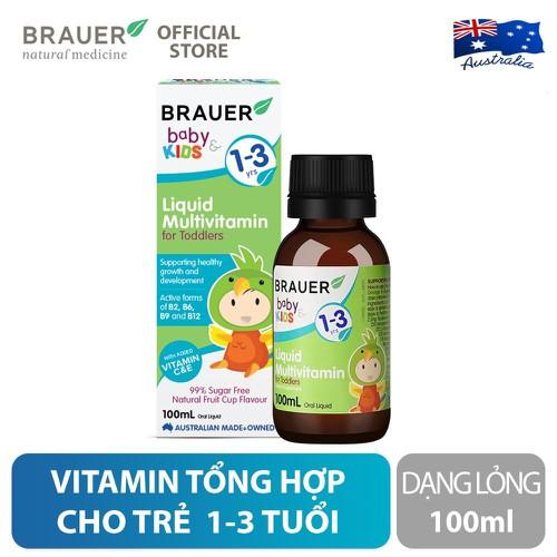 Siro bổ sung vitamin tổng hợp Brauer Úc cho trẻ 1 - 3 tuổi 100ml
