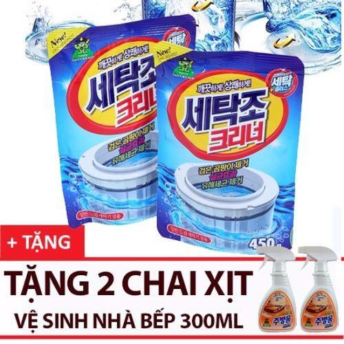 Combo 2 Gói bột tẩy vệ sinh lồng máy giặt 450g tặng 2 chai xịt vệ sinh nhà bếp 300ml - 6488898 , 16570513 , 15_16570513 , 200000 , Combo-2-Goi-bot-tay-ve-sinh-long-may-giat-450g-tang-2-chai-xit-ve-sinh-nha-bep-300ml-15_16570513 , sendo.vn , Combo 2 Gói bột tẩy vệ sinh lồng máy giặt 450g tặng 2 chai xịt vệ sinh nhà bếp 300ml