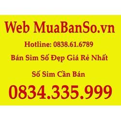 Sim điện thoai 0834335999