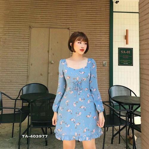 Đầm hoa đan eo cao cấp - DKN1507