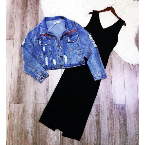 Áo khoác jean kiểu dáng hiện đại