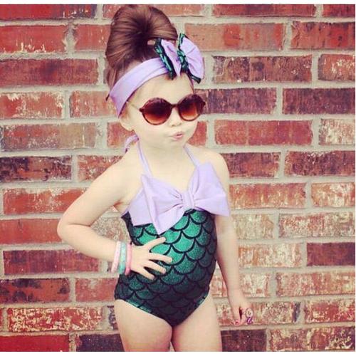 Bikini cho bé hình tiên cá đáng yêu