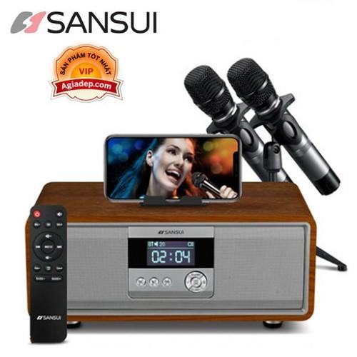 Loa Bluetooth kiêm dàn Karaoke Mini Sansui tại gia kèm 2 Micro - Hát karaoke nghe nhạc thỏa thích, Chất lượng âm thanh đẳng cấp nhà giàu - 0025
