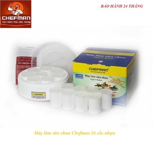Máy làm sữa chua Chefman 16 cốc nhựa CM - 301N