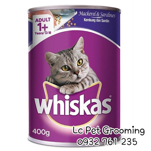 Whiskas - pate vị cá thu & cá mòi cho Mèo trưởng thành