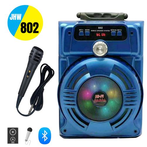 Loa Kéo Bluetooth Karaoke JHW-802 Tặng Kèm Micro